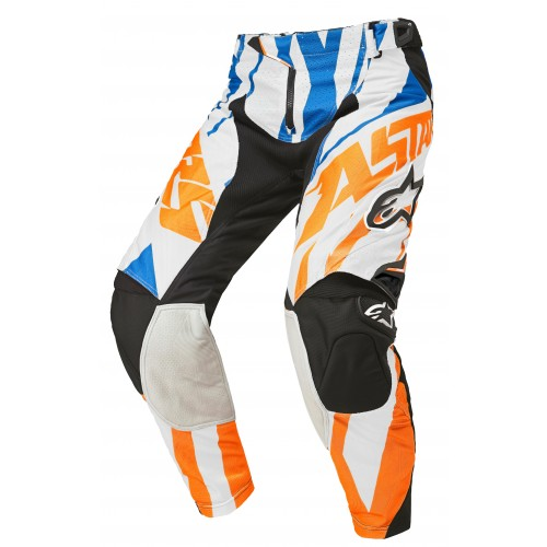 Byxa Alpinestars Techstar Orange/Vit/Blå